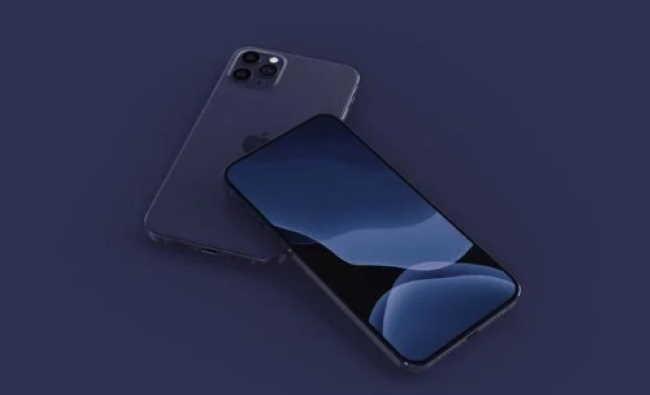 темно-синий iPhone 12 Pro в макете