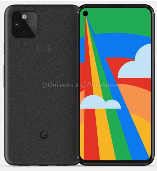 Утечка рендеринга Google Pixel 5