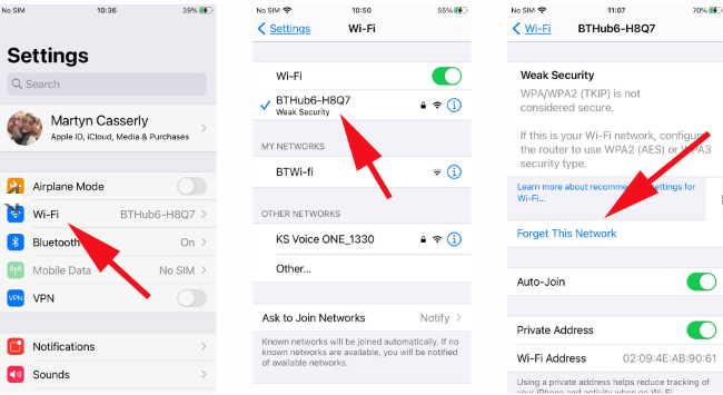 Как запретить iPhone разрывать соединение Wi-Fi: забудьте эту сеть