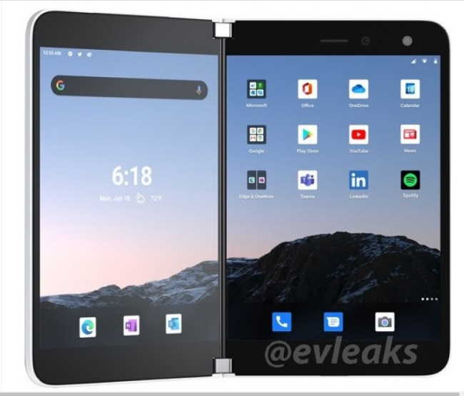 Microsoft Surface Duo для AT&T появляется в просочившихся рендерах, запуск которых ожидается в конце этого месяца