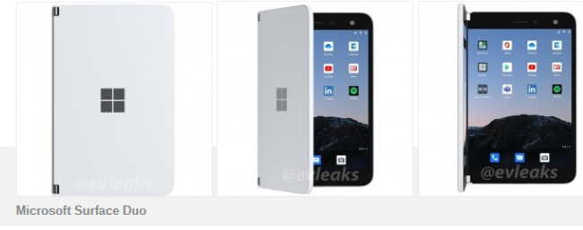 Microsoft Surface Duo для AT&T замечен в просочившихся рендерах