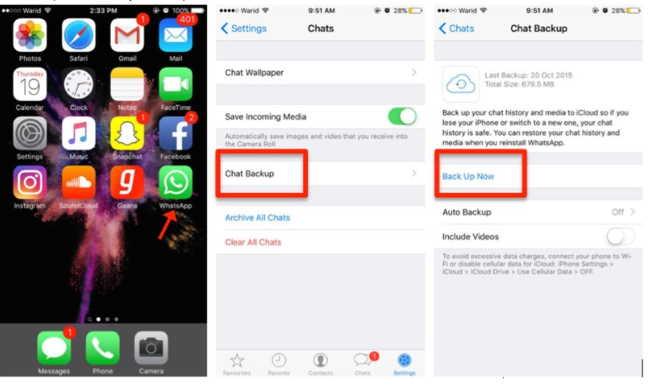 Перенос чатов WhatsApp с iPhone на iPhone бесплатно