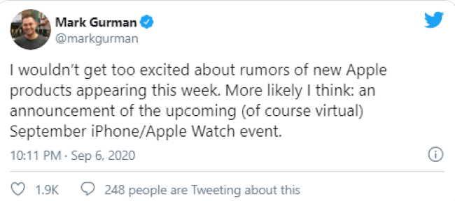 Гурман заявляет Apple объявит о сроках выпуска своего iPhone