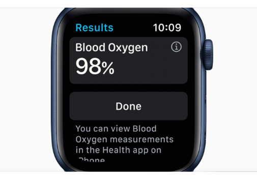 Apple Watch Series 6, измерение кислорода - приложение Blood Oxygen